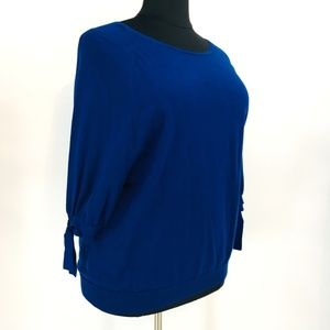 Worthington Cobalt Blue 3/4 Sleeve Sweater